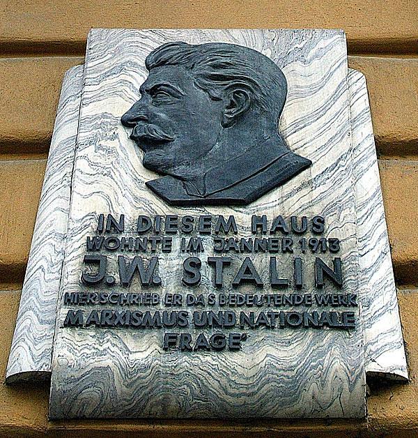gedenktafel Stalin in Meidling